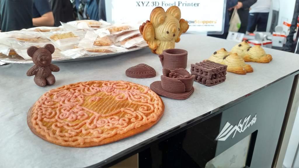 Кулинарные продукты, изготовленные в пищевом 3D-принтере