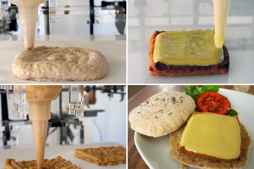 Гамбургер, распечатанный на пищевом 3D-принтере