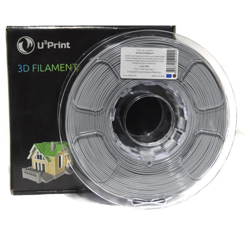 Фото Нить для 3D-принтера PLA basic Plus пластик U3Print ash (серый)