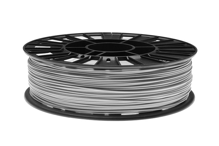 Фото нить для 3D-принтера ABS пластик REC 1,75 мм серебристый