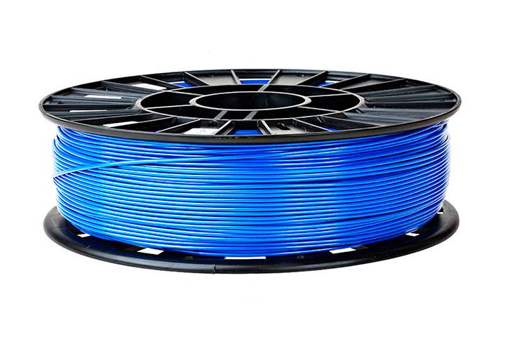 Фото нить для 3D-принтера ABS пластик REC 2,85 мм голубой