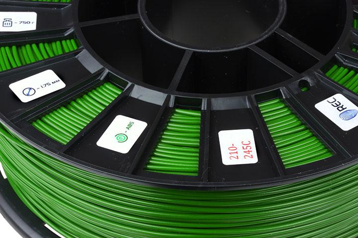 Изображение нить для 3D-принтера ABS пластик REC 2,85 мм салатовый