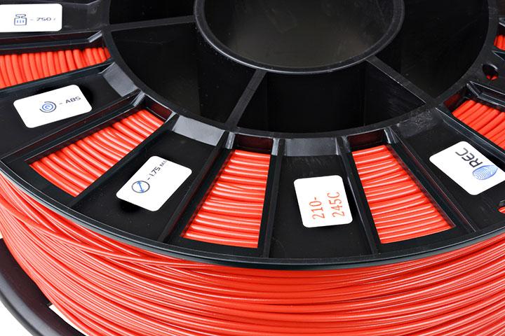 Фотография нить для 3D-принтера ABS пластик REC 2,85 мм ярко-красный