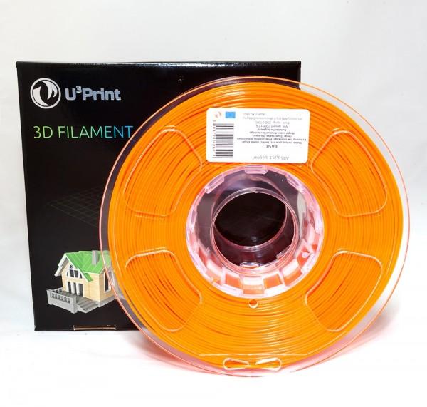 Фотография нить для 3D-принтера ABS пластик U3Print orange fluory (оранж.флуо)