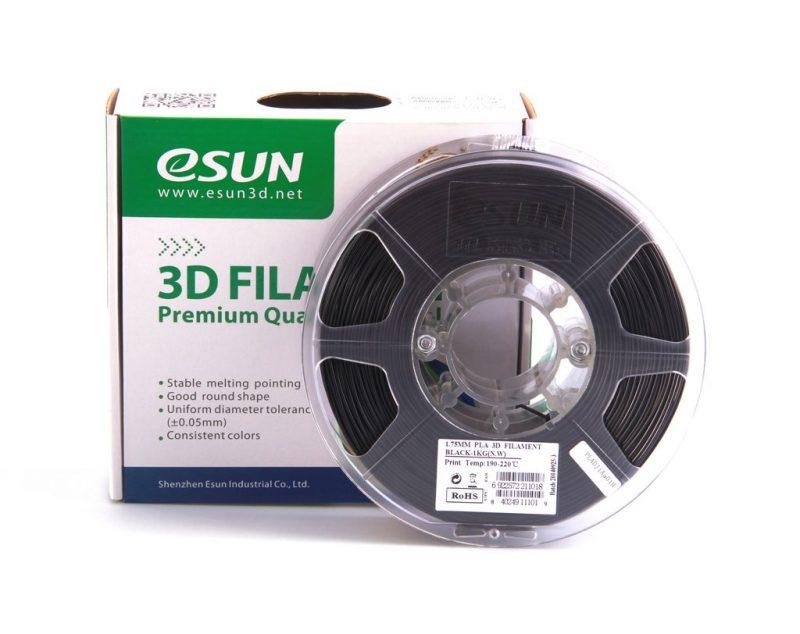 Фото нить для 3D-принтера eSUN 3D FILAMENT PLA BLACK 3.00 мм