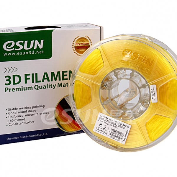 Фото Нить для 3D-принтера eSUN 3D FILAMENT PLA Glass Lemon Yellow 1.75 мм