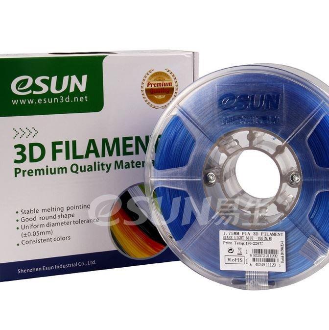 Фото Нить для 3D-принтера eSUN 3D FILAMENT PLA Glass Light Blue 1.75 мм