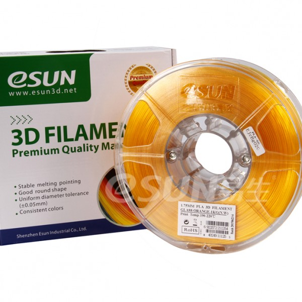 Фото Нить для 3D-принтера eSUN 3D FILAMENT PLA Glass Orange 1.75 мм