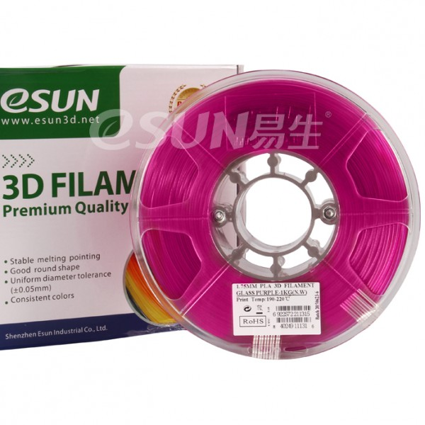 Фото Нить для 3D-принтера eSUN 3D FILAMENT PLA Glass Purple 1.75 мм