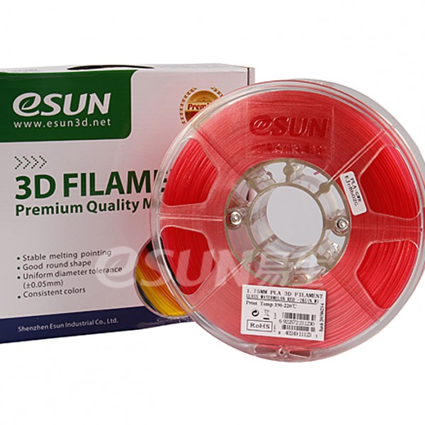 Фото Нить для 3D-принтера eSUN 3D FILAMENT PLA Glass Watermelon Red 1.75 мм