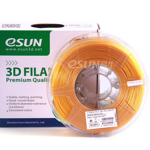 Фото нить для 3D-принтера eSUN 3D FILAMENT PLA GOLD 3.00 мм