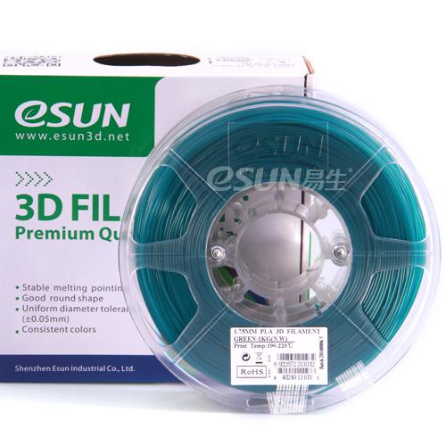Фото нить для 3D-принтера eSUN 3D FILAMENT PLA GREEN 3.00 мм