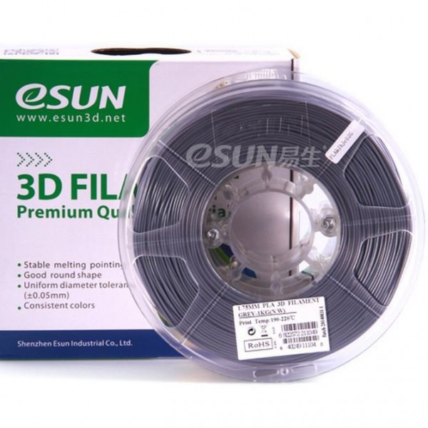 Фото Нить для 3D-принтера eSUN 3D FILAMENT PLA GREY 1.75 мм
