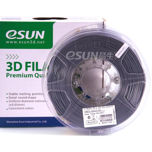 Фото нить для 3D-принтера eSUN 3D FILAMENT PLA GREY 3.00 мм