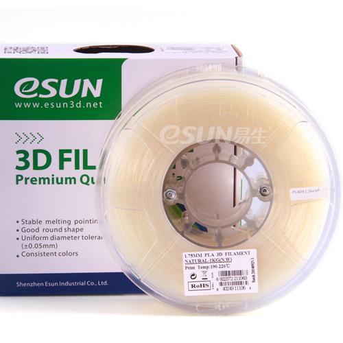 Фото нить для 3D-принтера eSUN 3D FILAMENT PLA NATURAL 3.00 мм