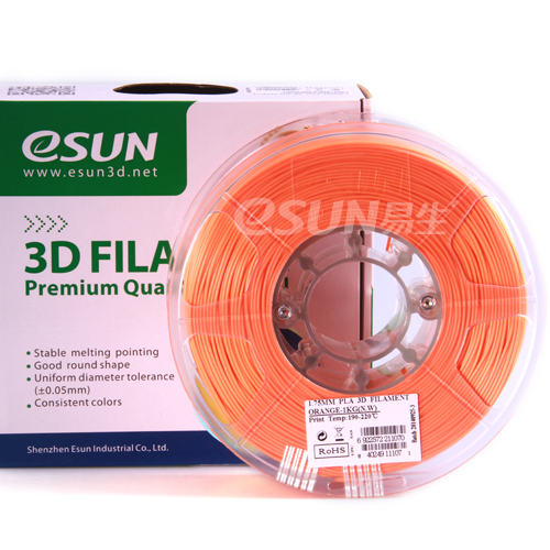 Фото нить для 3D-принтера eSUN 3D FILAMENT PLA ORANGE 3.00 мм