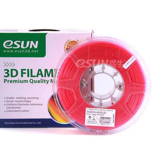 Фото нить для 3D-принтера eSUN 3D FILAMENT PLA PINK 3.00 мм