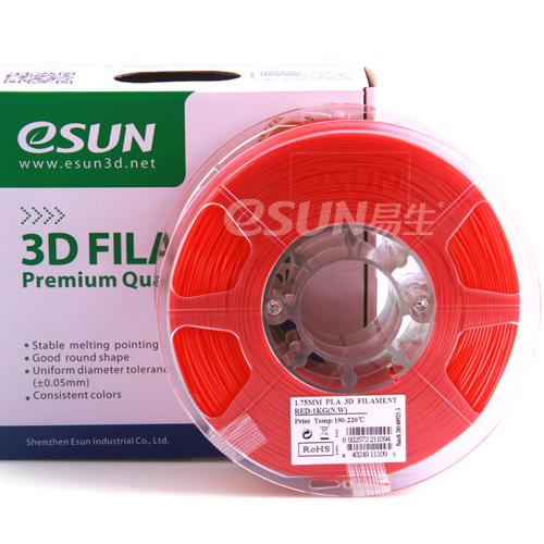 Фото Нить для 3D-принтера eSUN 3D FILAMENT PLA RED 1.75 мм