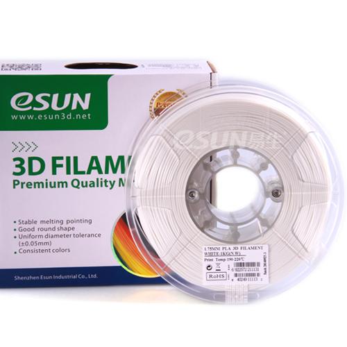 Фото нить для 3D-принтера eSUN 3D FILAMENT PLA WHITE 3.00 мм