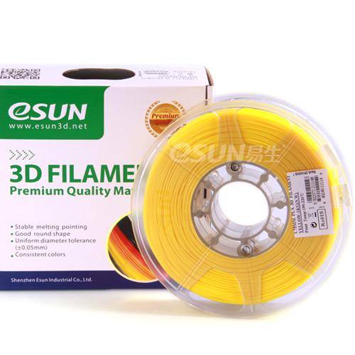 Фото нить для 3D-принтера eSUN 3D FILAMENT PLA YELLOW 3.00 мм