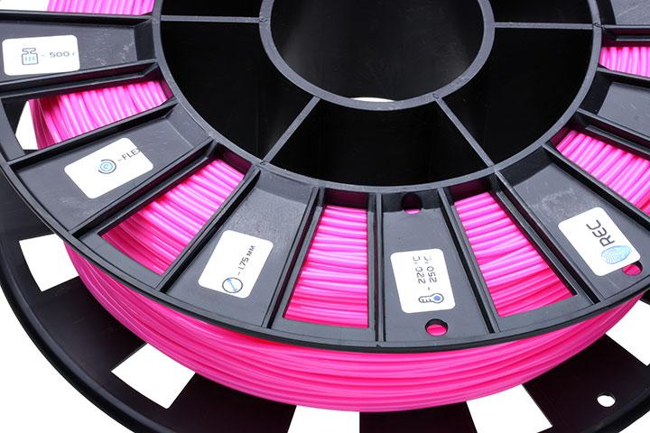 Фото нить для 3D-принтера FLEX пластик REC 2.85 мм розовый