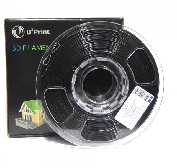 Фотография нить для 3D-принтера PLA basic пластик U3Print anthracite (черный)