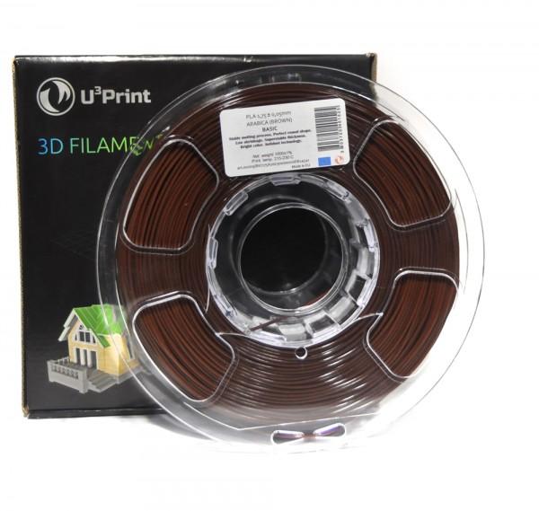 Фотография нить для 3D-принтера PLA basic пластик U3Print arabica (коричневый)