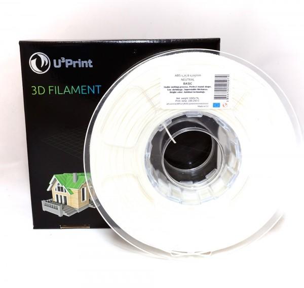 Фотография нить для 3D-принтера PLA basic пластик U3Print neutral phosphorus (бел. свет.)