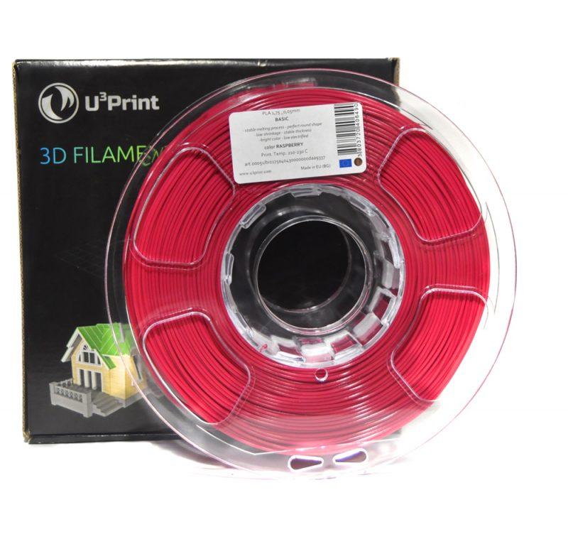 Фотография нить для 3D-принтера PLA basic пластик U3Print raspberry (малиновый)