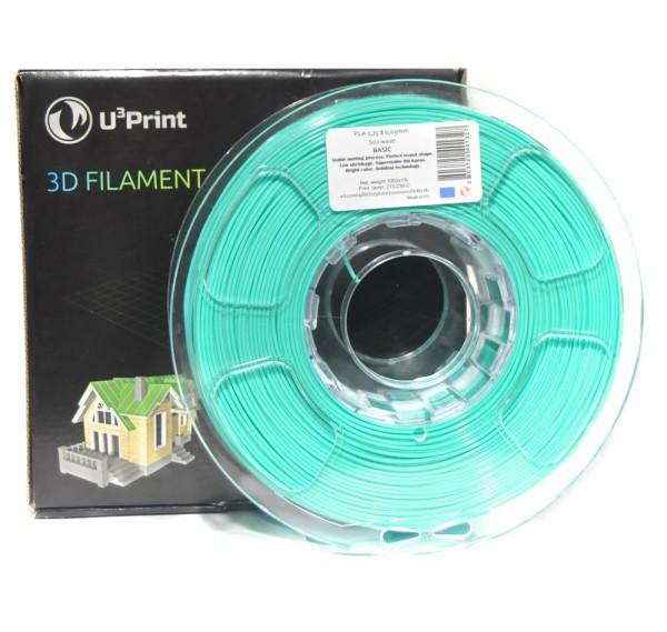 Фотография нить для 3D-принтера PLA basic пластик U3Print sea wave (бирюзовый)