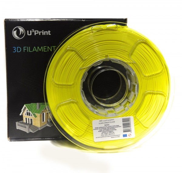 Фотография нить для 3D-принтера PLA basic пластик U3Print sunflower regular (желтый)