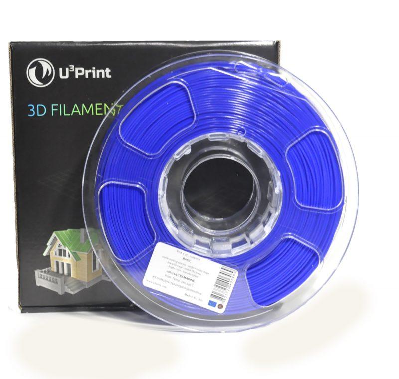 Фотография нить для 3D-принтера PLA basic пластик U3Print ultramarine (синий,темный)