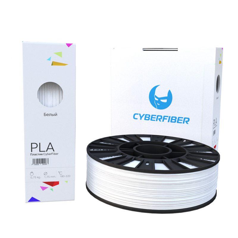 Фотография нить для 3D-принтера PLA пластик CyberFiber белый