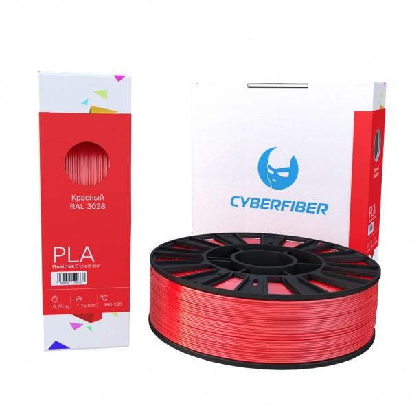 Фотография нить для 3D-принтера PLA пластик CyberFiber красный