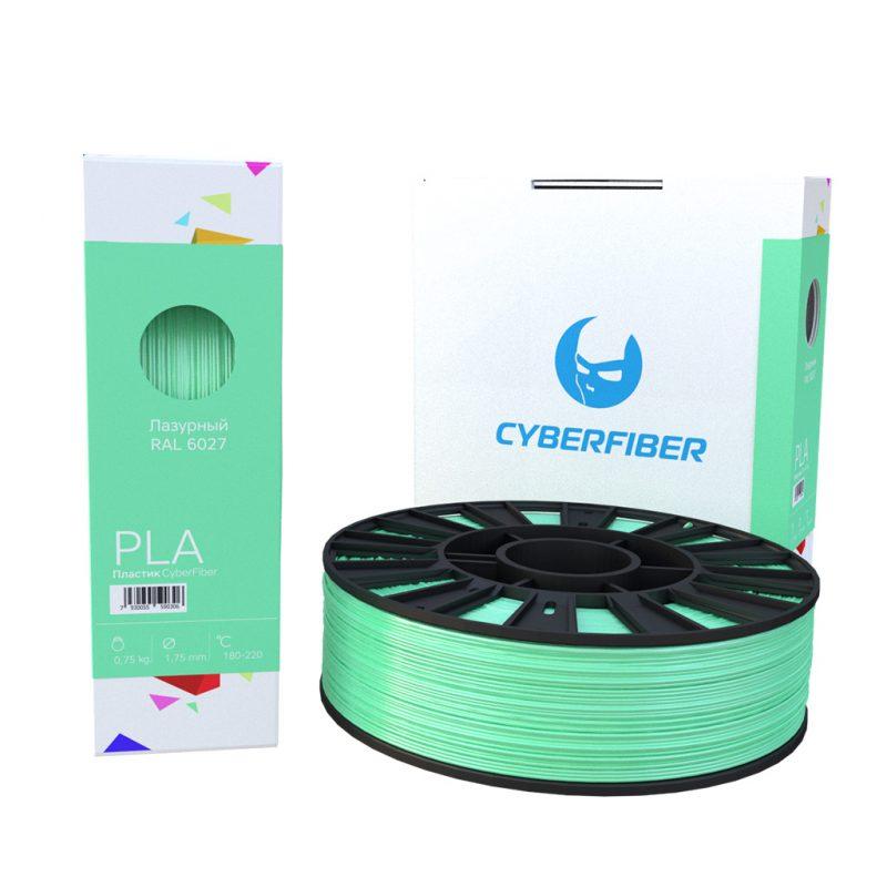 Фотография нить для 3D-принтера PLA пластик CyberFiber лазурный