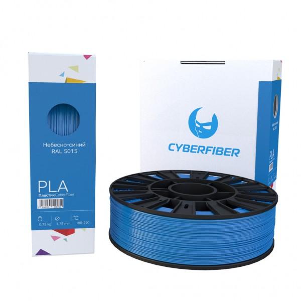 Фотография нить для 3D-принтера PLA пластик CyberFiber небесно-синий