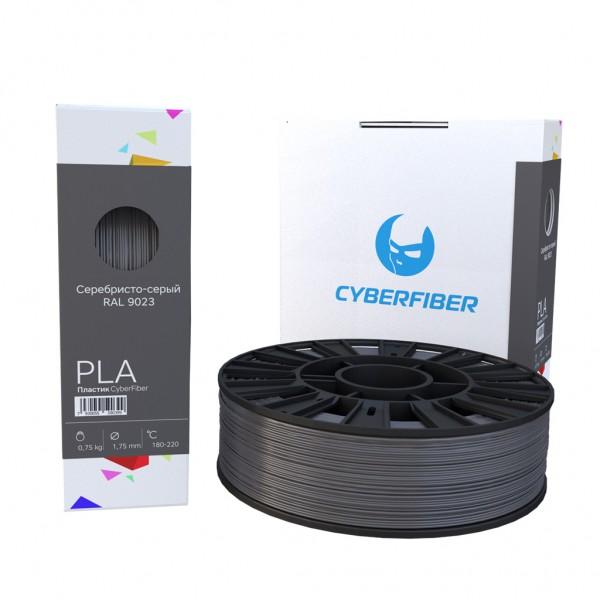 Фотография нить для 3D-принтера PLA пластик CyberFiber серебристо-серый