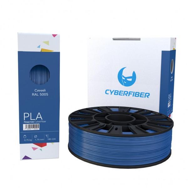 Фотография нить для 3D-принтера PLA пластик CyberFiber синий