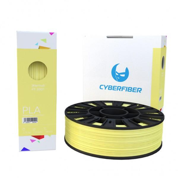 Фотография нить для 3D-принтера PLA пластик CyberFiber желтый