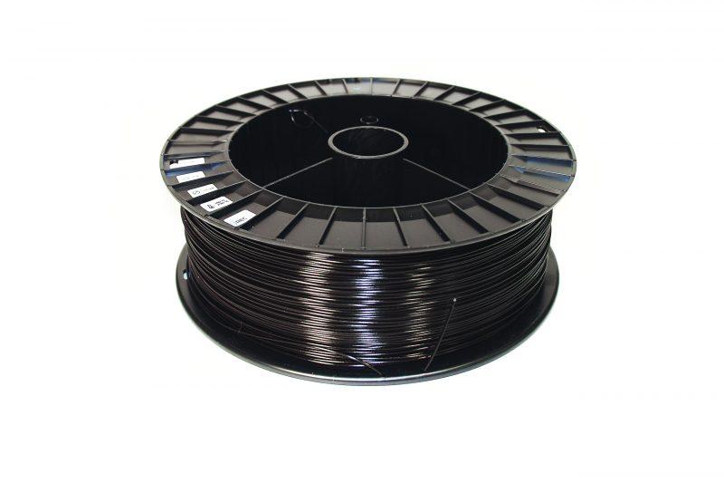 Фотография нить для 3D-принтера PLA пластик REC 1.75 мм чёрный 2 кг