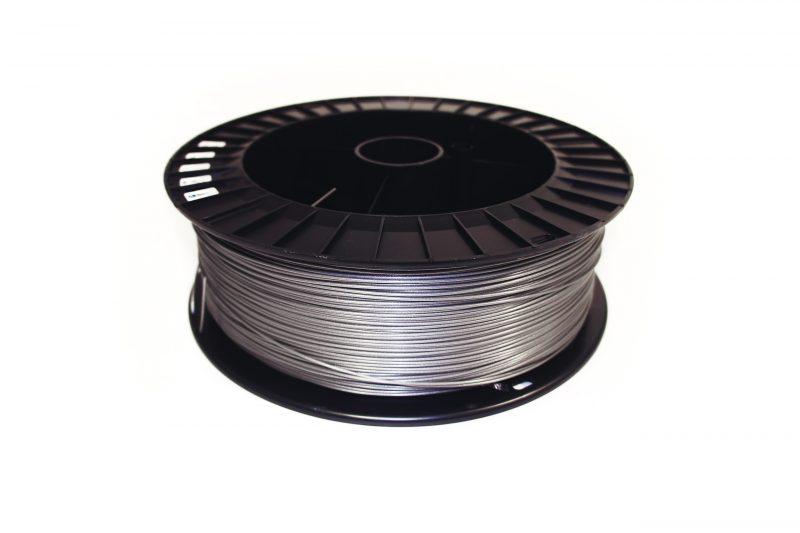 Фотография нить для 3D-принтера PLA пластик REC 1.75 мм серебристый 2 кг