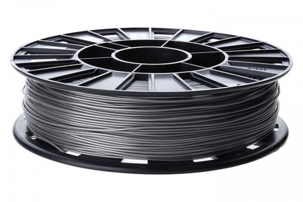 Изображение нить для 3D-принтера PLA пластик REC 1.75 мм серебристый металлик
