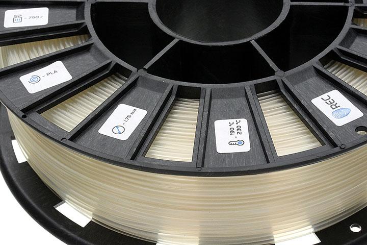 Изображение нить для 3D-принтера PLA пластик REC 2.85 мм натуральный