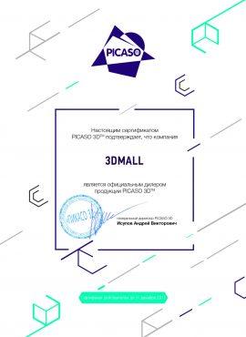 Фото Сертификат PICASO 3D
