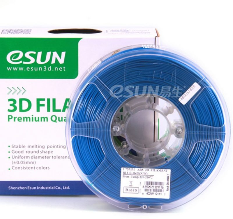 Фото нить для 3D-принтера eSUN 3D FILAMENT ABS BLUE 1.75 мм