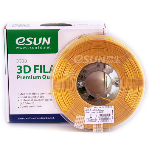 Фото нить для 3D-принтера eSUN 3D FILAMENT ABS GOLD 3.00 мм