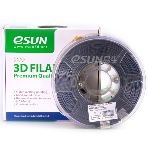 Фото нить для 3D-принтера eSUN 3D FILAMENT ABS GREY 3.00 мм