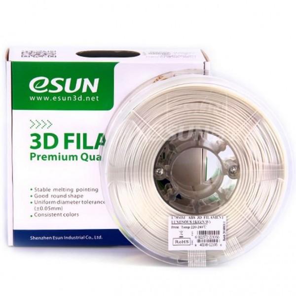 Фото нить для 3D-принтера eSUN 3D FILAMENT ABS LUMINOUS GREEN 1.75 мм