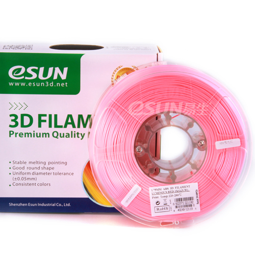 Фото нить для 3D-принтера eSUN 3D FILAMENT ABS LUMINOUS RED 1.75 мм