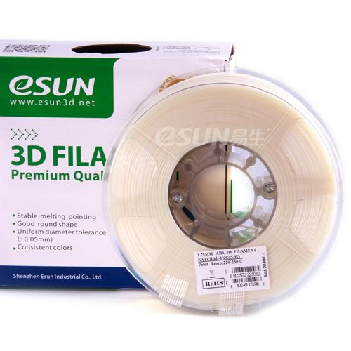 Фото нить для 3D-принтера eSUN 3D FILAMENT ABS NATURAL 1.75 мм